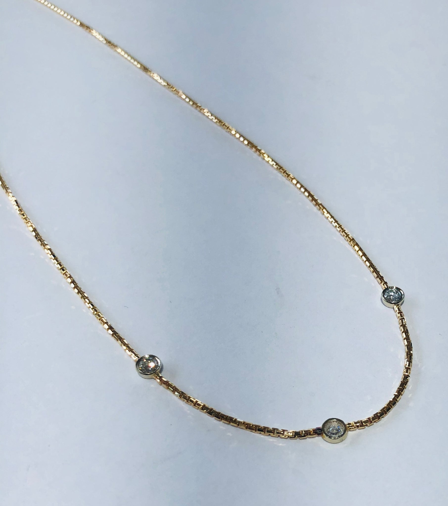 14 Kt. Yellow Gold Diamond by The Yard Fashion Necklace