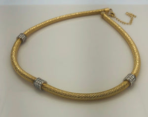 14Kt. Yellow Gold  Diamond Spring Necklace