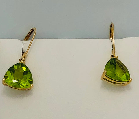 14Kt. Yellow Gold Peridot Earrings