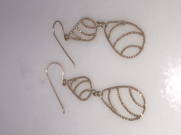 14Kt.  Yellow Gold Dangle Wire Earrings