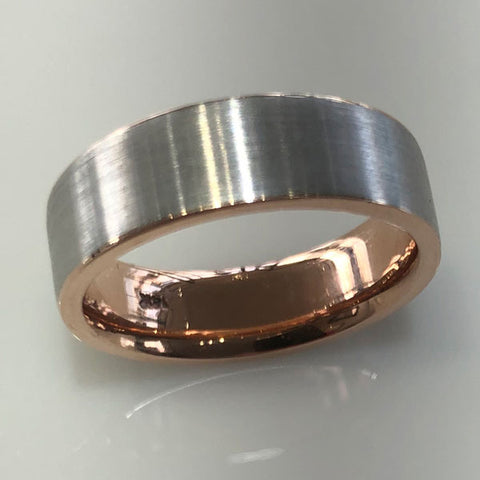 14Kt. Rose & White Gold Wedding Band