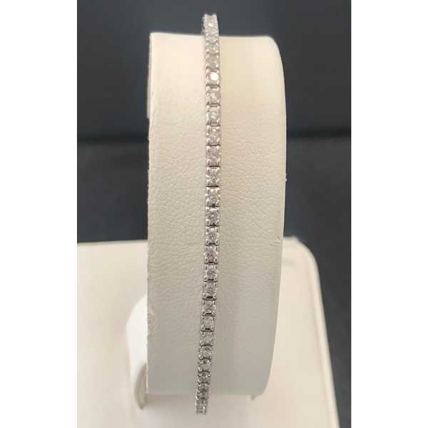 14Kt. White Gold Diamond 4 Prong Tennis Bracelet