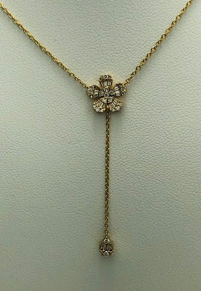 14 KT YG Diamond Fashion Pendant Necklace