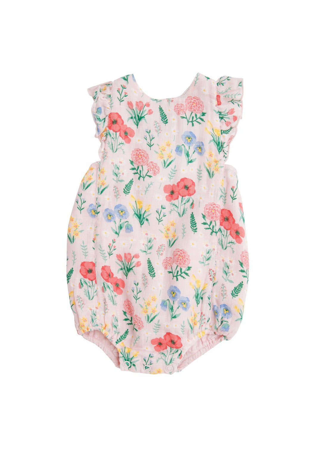Summer Floral Sunsuit Pink