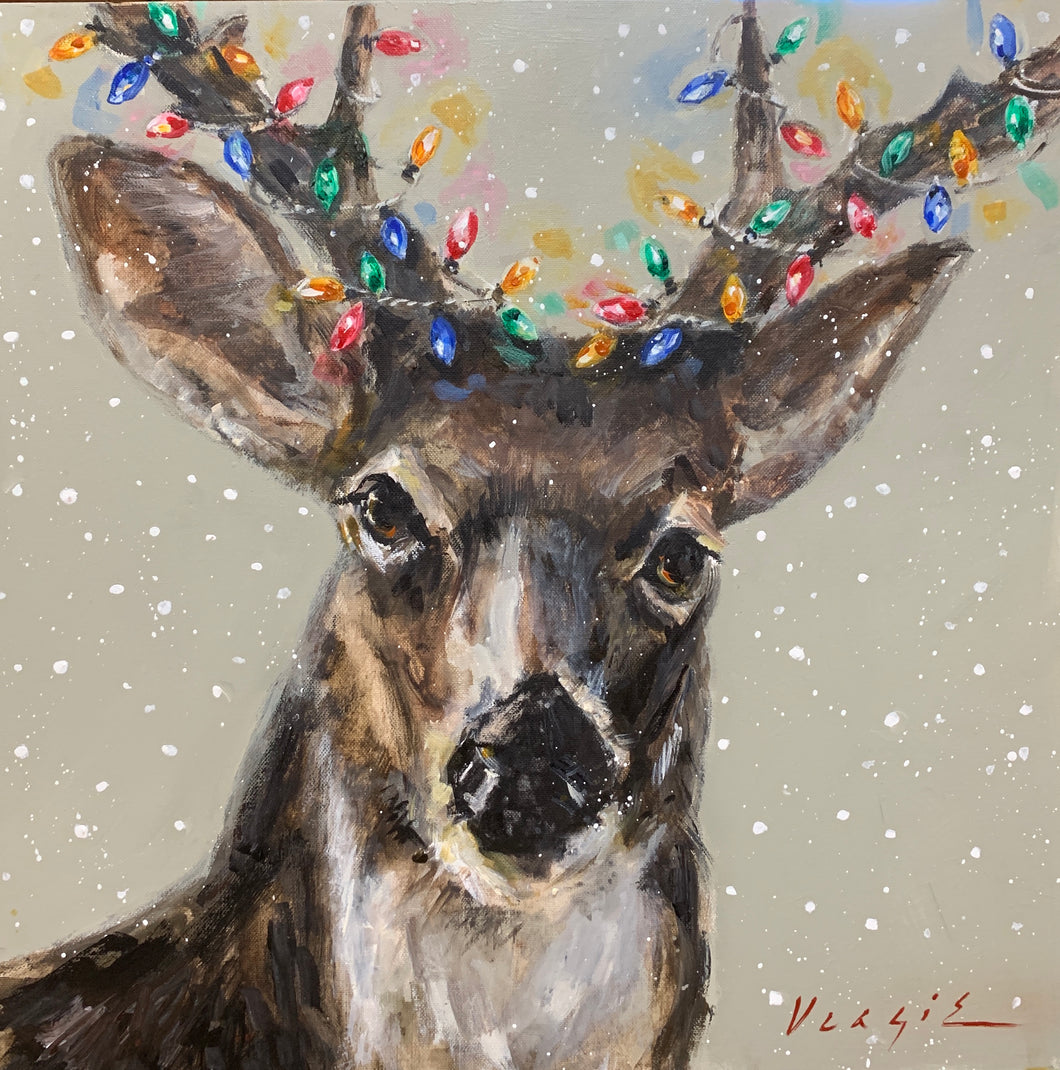 Christmas Deer with Lights