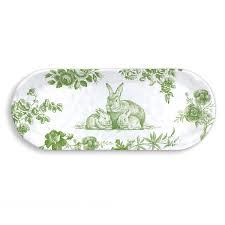Bunny Toile Accent Tray