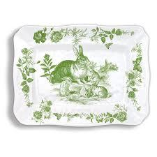 Bunny Toile Large Platter