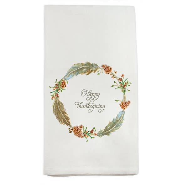Feather Wreath Fall Handtowel