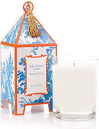French Tulip Toile Pagoda Candle