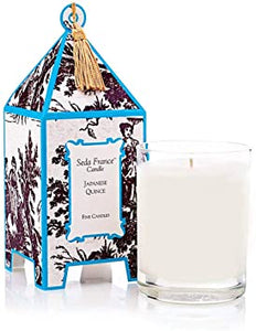 Japanese Quince Toile Pagoda Candle