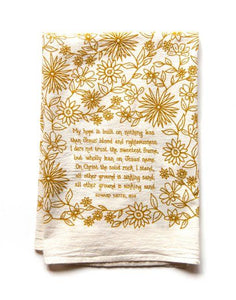 "Hymn Towel ""My Hope is Built"""