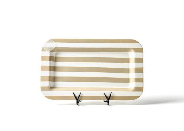 Happy Everything Neutral Stripe Mini Entertaining Platter