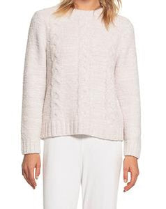 COZYCHIC LITE Heathered Cable Pullover Stone