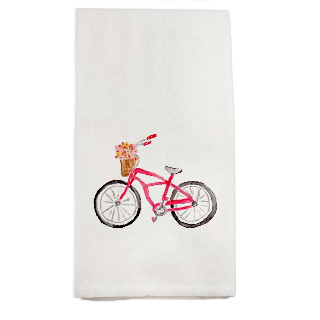 Red Bike Hand Towel