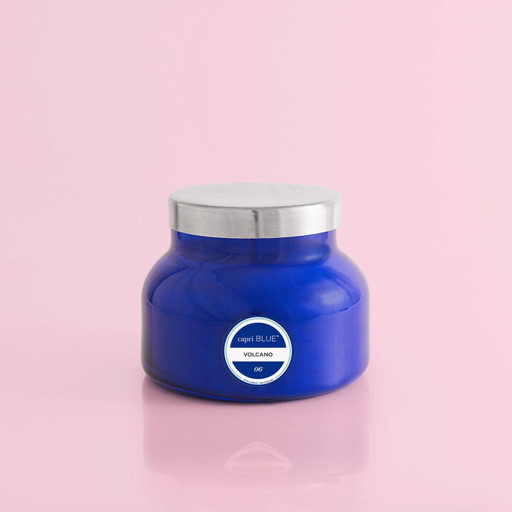 Volcano Signature Blue Jar Candle