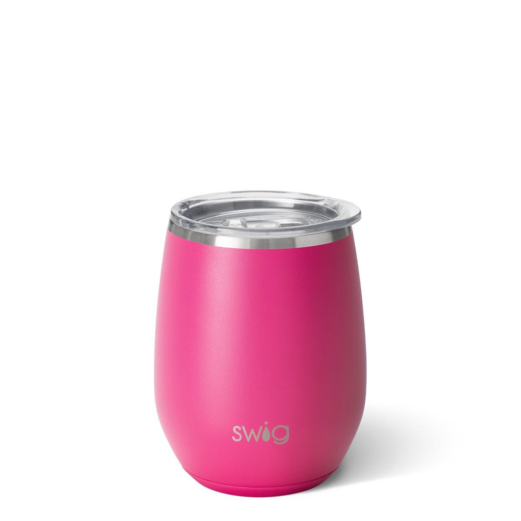 Swig Matte Hot Pink 14oz Stemless Wine Cup
