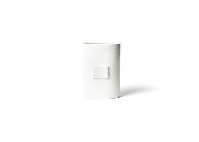 Happy Everything White Small Dot Mini Oval Vase