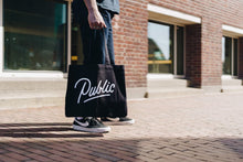 Load image into Gallery viewer, Public Tote Bag | Provisions | Merch | 100% Organic Cotton | Public Space Amsterdam | streetwear