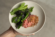 Load image into Gallery viewer, Public Space | beef tartare | buckwheat | chard | Food | Amsterdam Cafe | Food Delivery | Restaurant | Take Away | Pickup