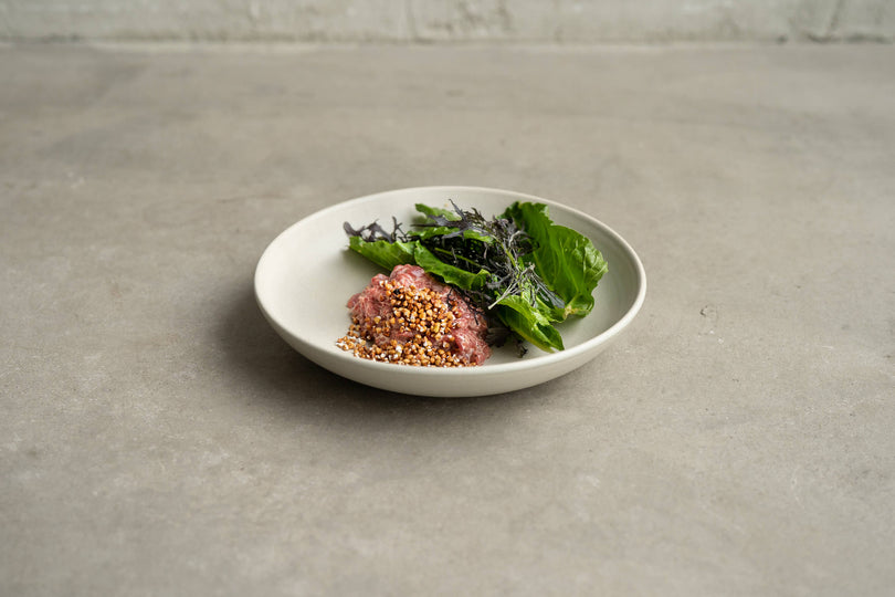 Public Space | beef tartare | buckwheat | chard | Food | Amsterdam Cafe | Food Delivery | Restaurant | Take Away | Pickup