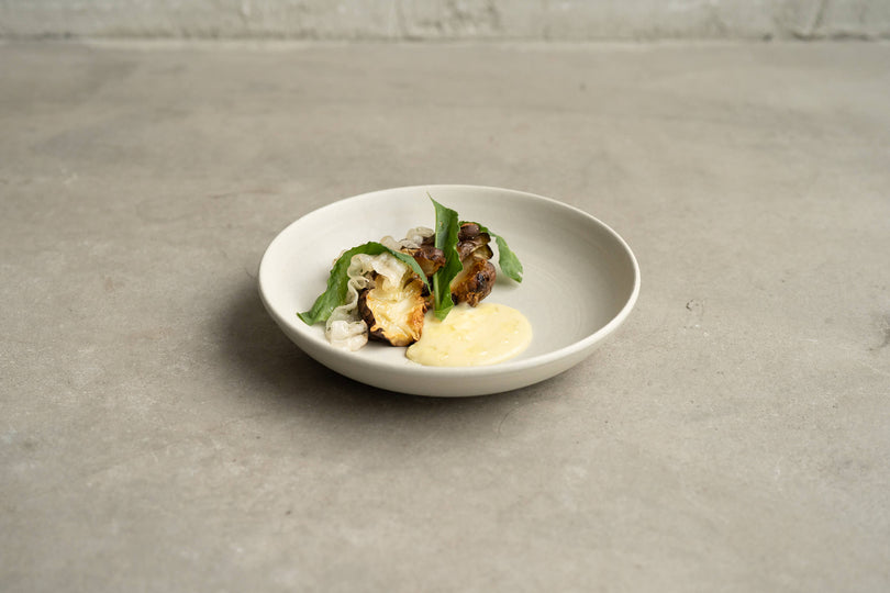 Public Space | Jerusalem artichokes | potato cream | lardo | sorrel | Food | Amsterdam Cafe | Food Delivery | Restaurant | Take Away | Pickup