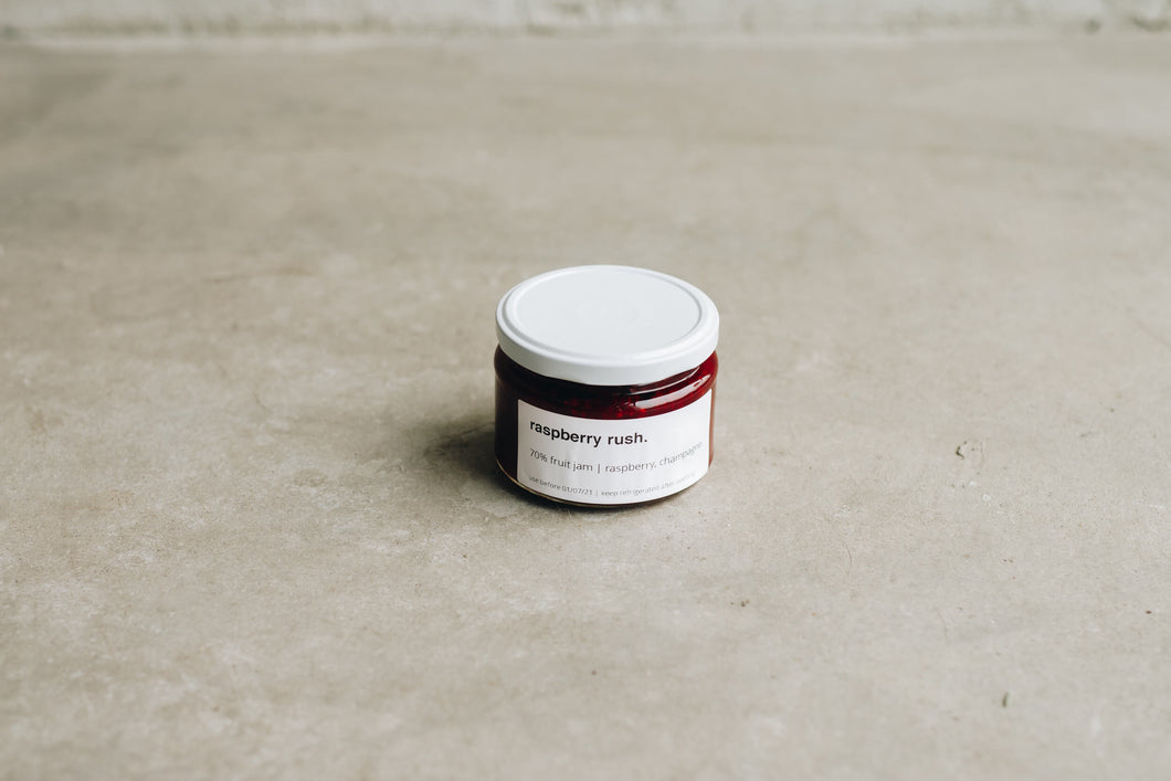Public Space | Raspberry rush | Fruit jam (250g) | Retail | Amsterdam Cafe | Food Delivery | Restaurant | Take Away | Pickup
