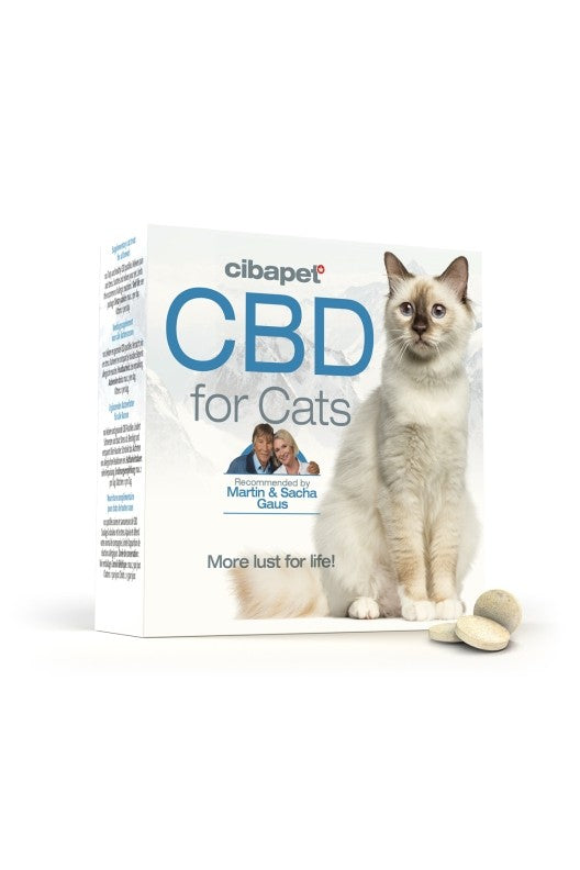 Cibapet CBD oil pastilles box with cat