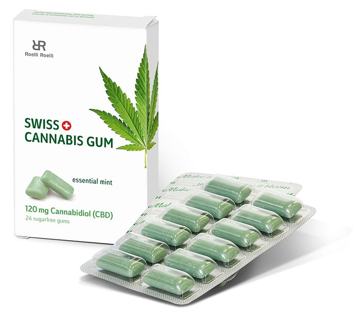 cbd oil chewing gum with pack of 12 gums