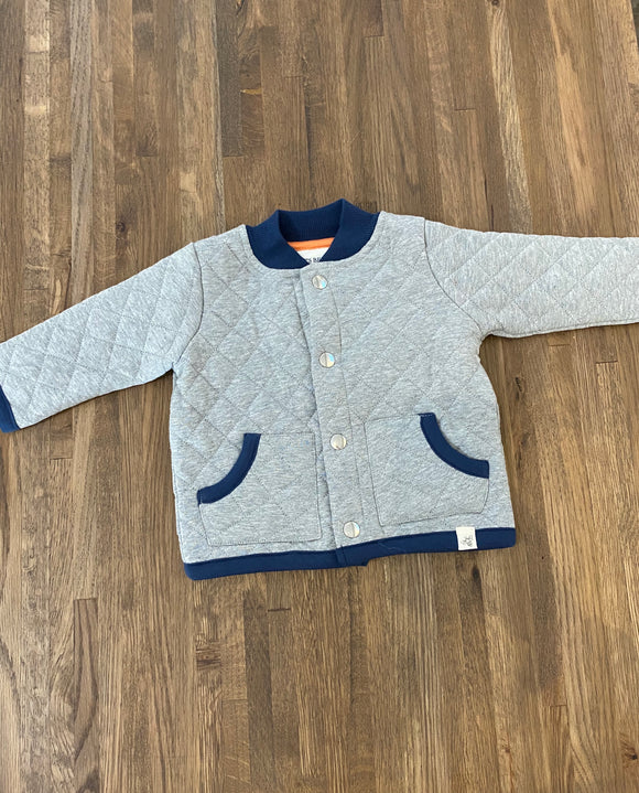 Quilted Jacket- Heather Grey