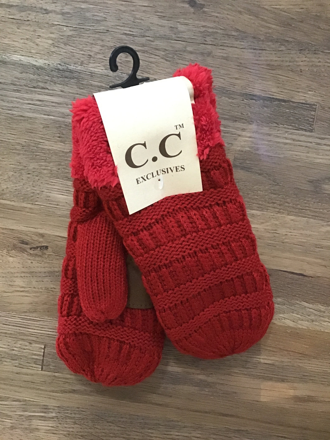 Kids Classic Mittens-Red