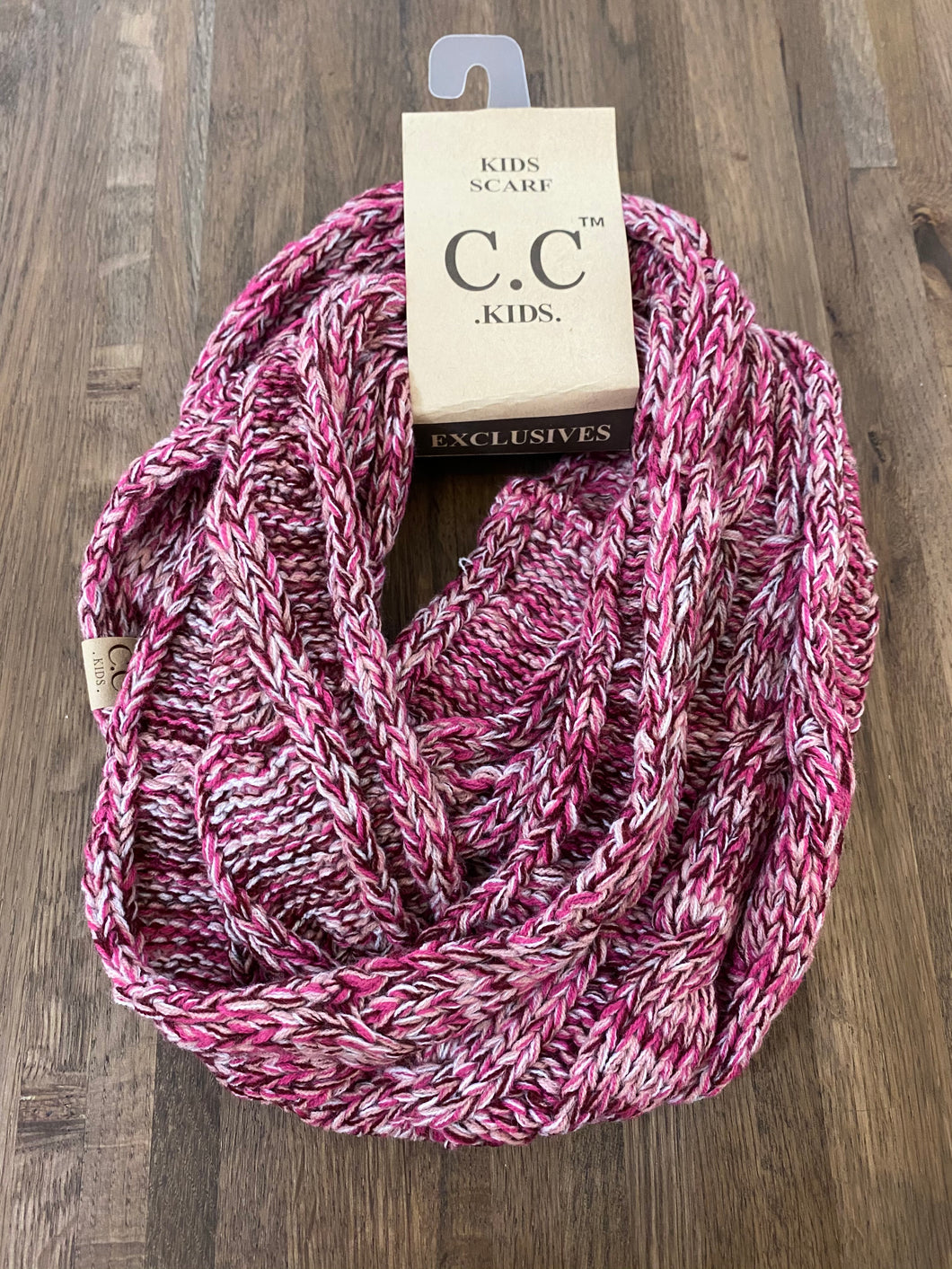 Kids Scarf Multi- Pink