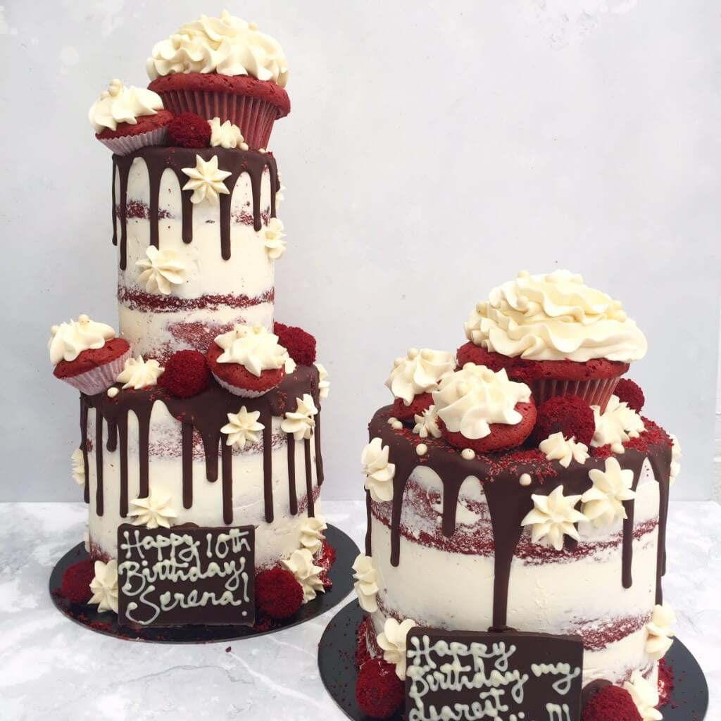 Lady Red Velvet Birthday Cake in Teddington Anges de Sucre
