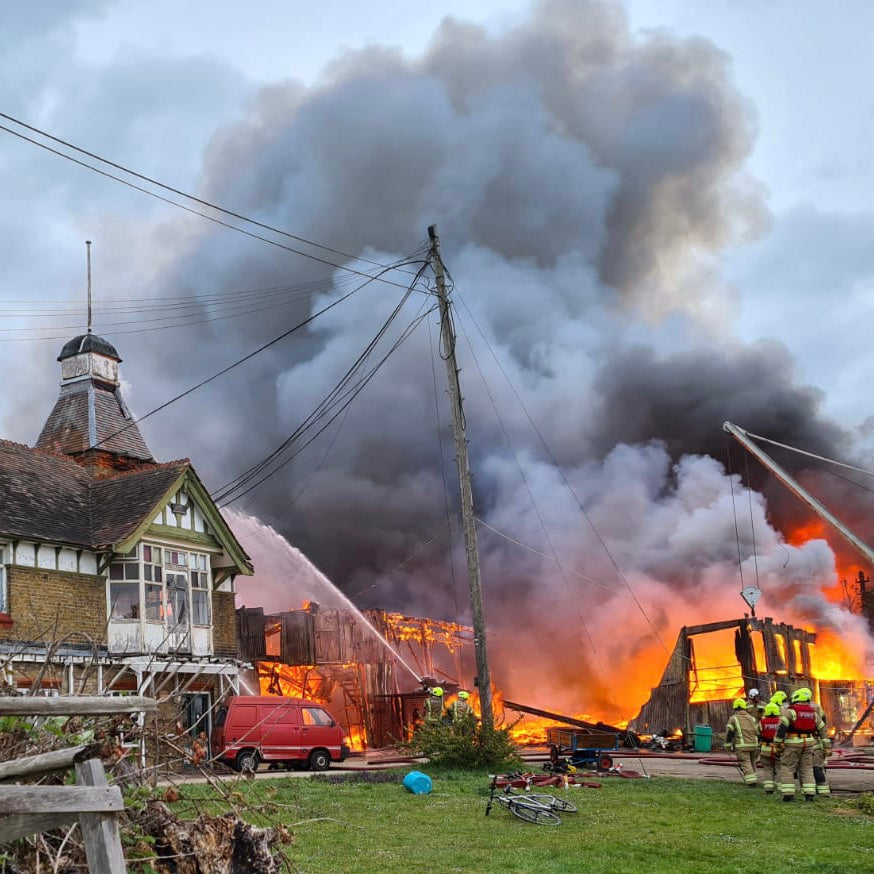 Platts Eyot Hampton Fire