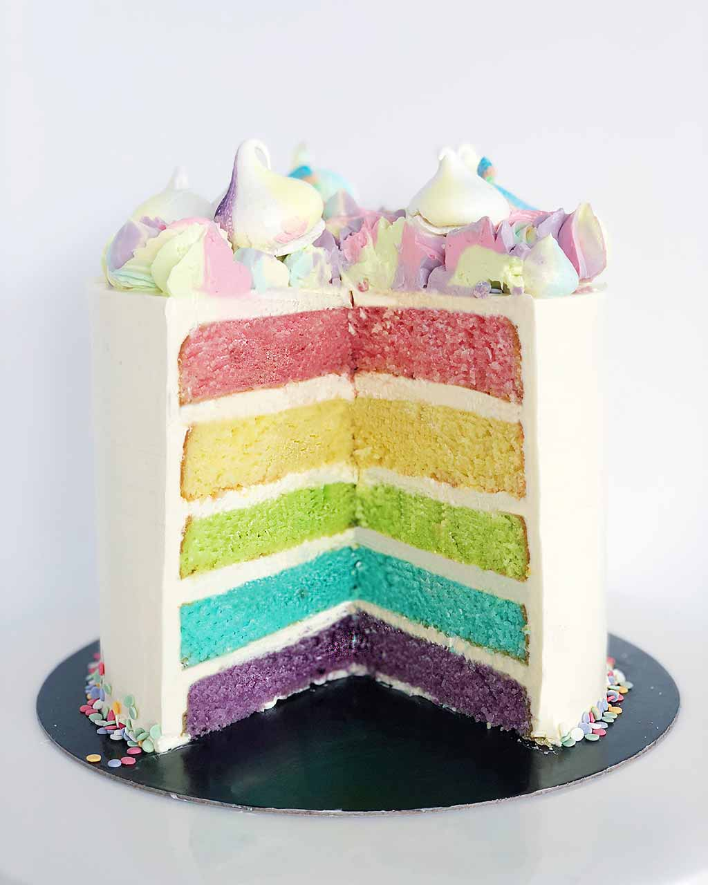 Surprising The Queen Of Rainbow Cake Recipes Anges De Sucre Funny Birthday Cards Online Elaedamsfinfo