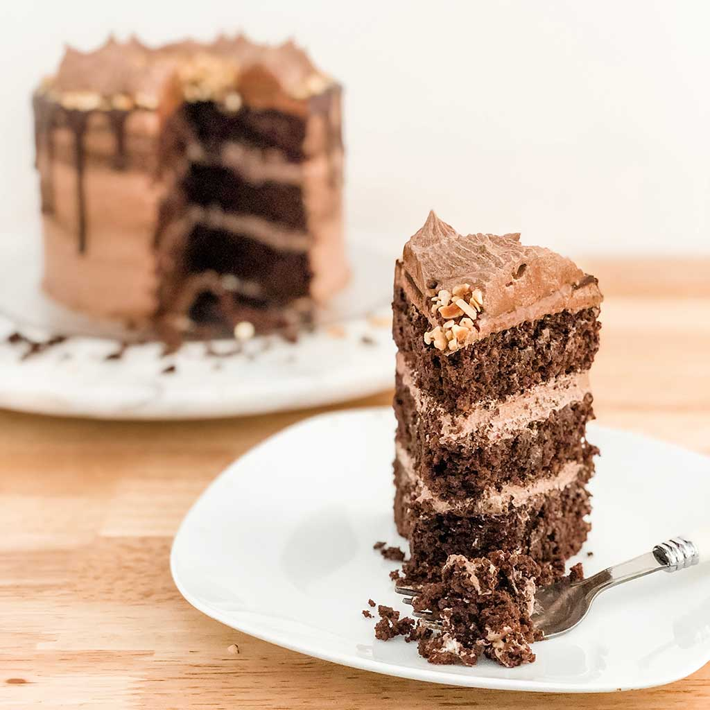 Sugar Free Keto Chocolate Drip Cake