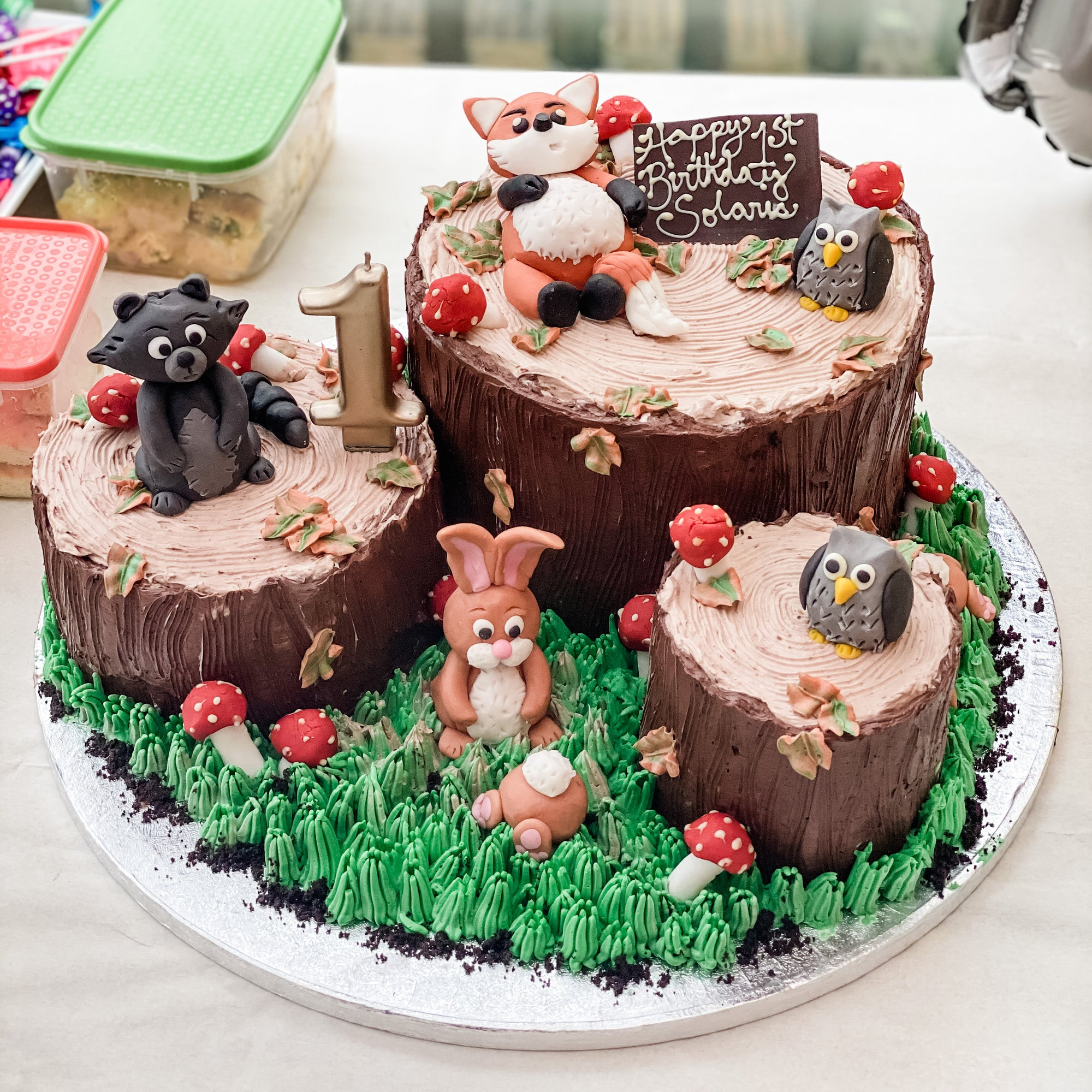 Woodland Themed Bespoke Birthday Cake
