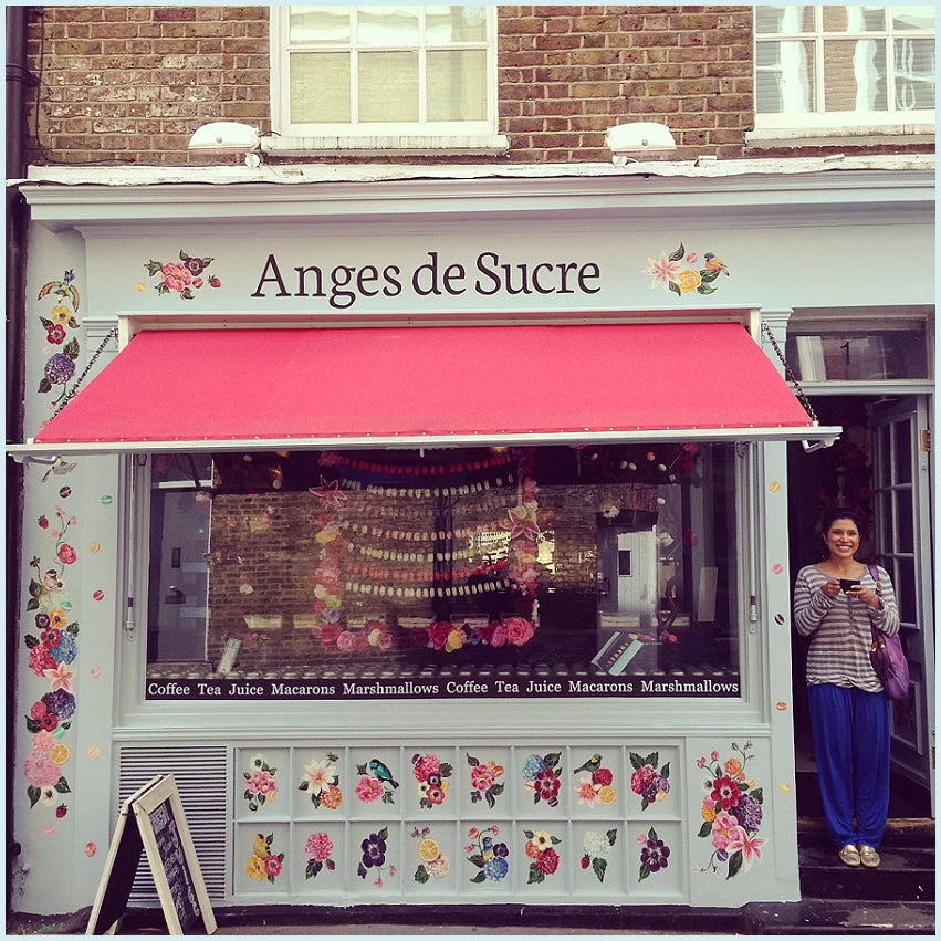 The Anges' Journey to Bricks & Mortar - Shop front mural