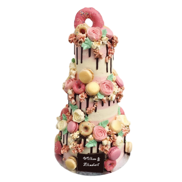Pink Sweetheart Wedding Cake | Top Wedding Cakes London