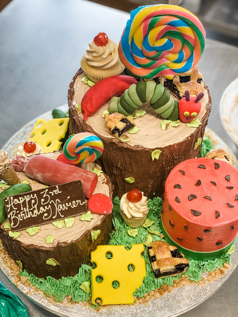 Bespoke Very Hungry Caterpillar  Birthday Cake London