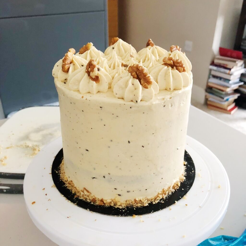 Coffee Cake With Coffee Cream Cheese Frosting Recipe Anges De Sucre
