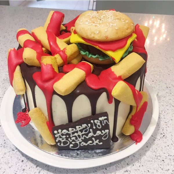 Burger Cake delivered in Surbiton