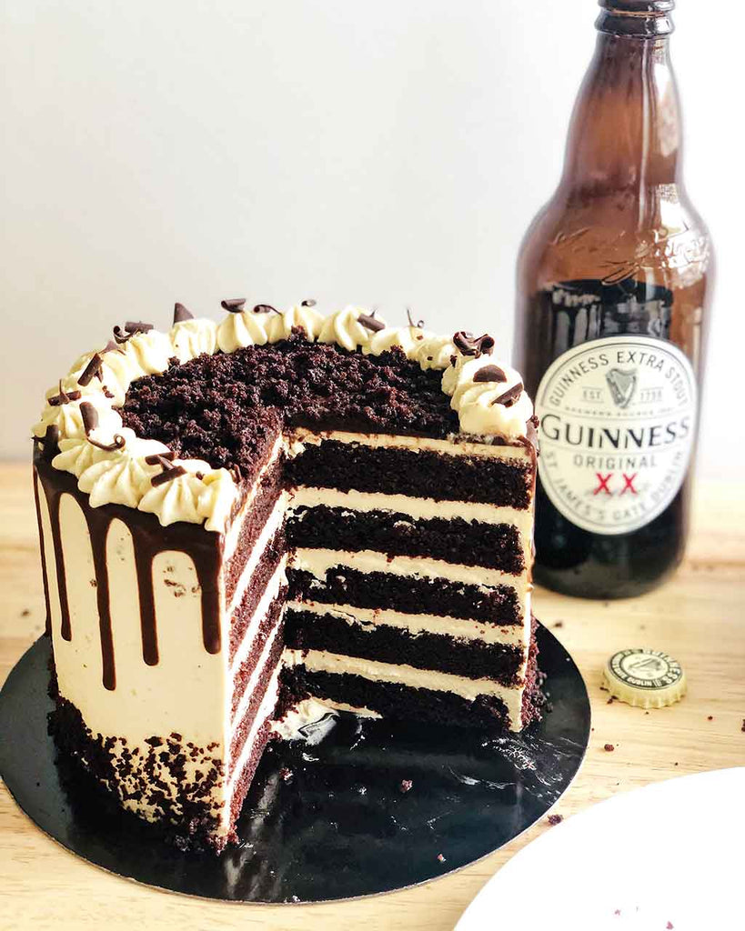 Chocolate Guinness Malt Layer Cake - layers