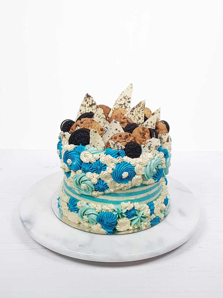 Cookie Monster Fault Line Cake