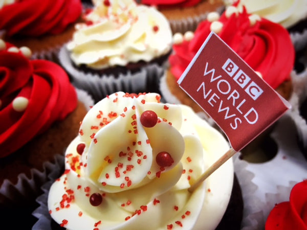 Branded Cupcakes for the BBC