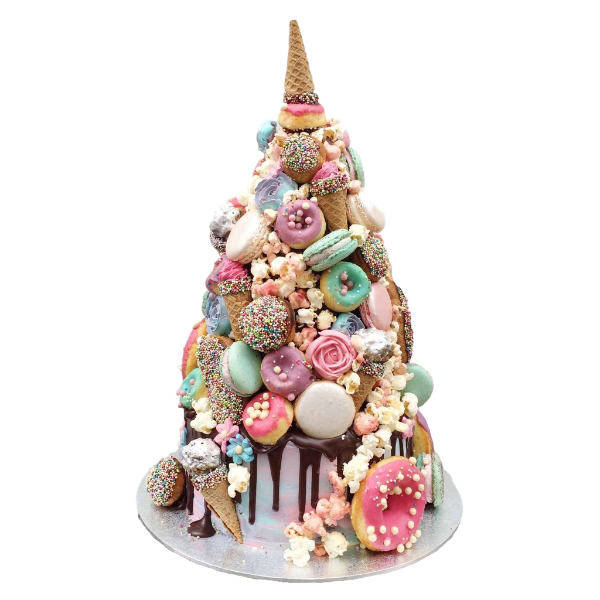 Unicorn Croquembouche Wedding Cake | London
