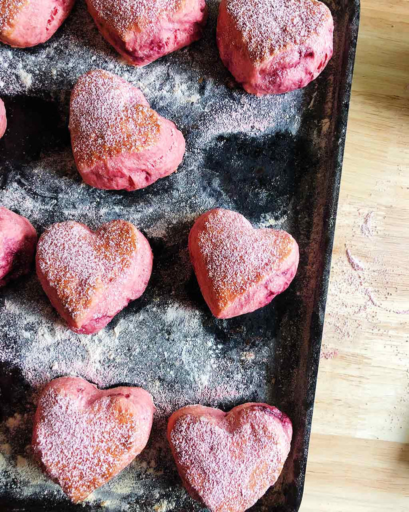 Heart Shaped Raspberry Scone Recipe - baked