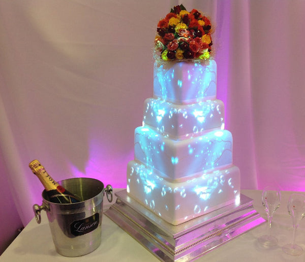 Image mapping wedding cake