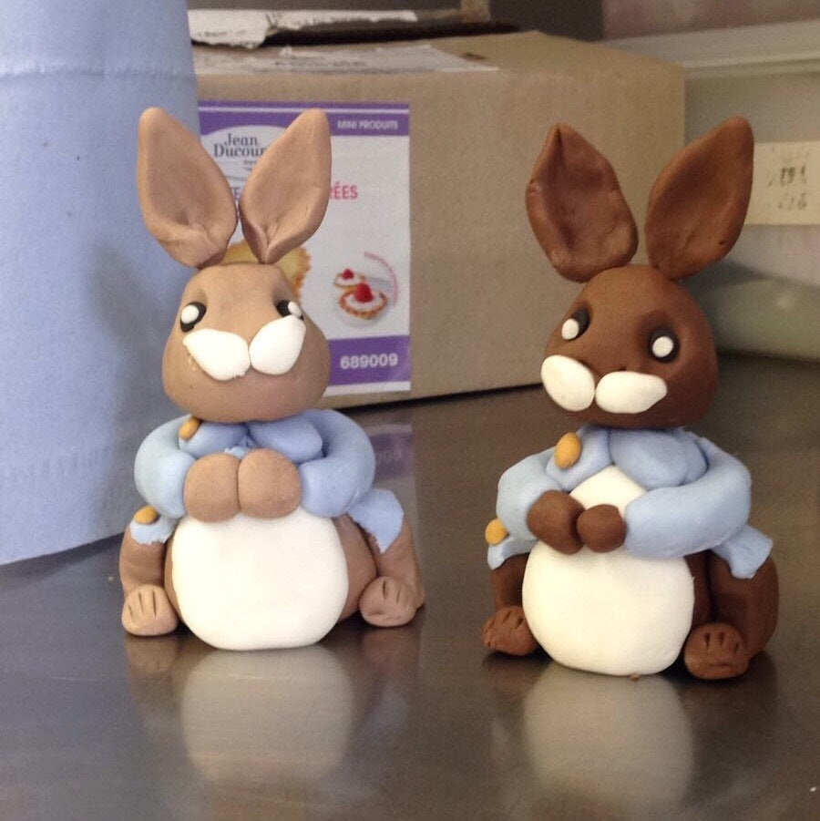 Peter Rabbit and Asian Pete Fondant Figurines