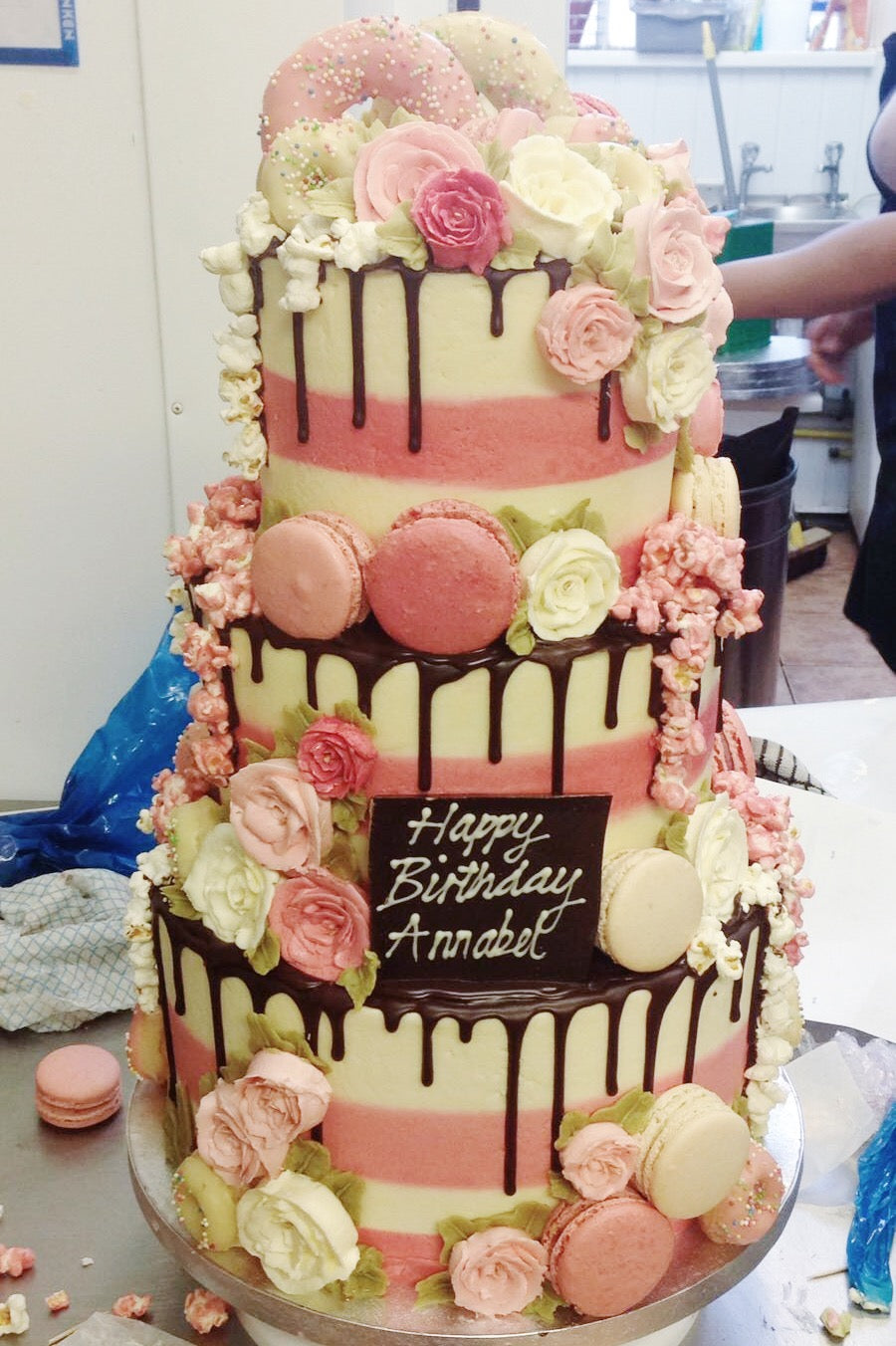 Three Tiered Birthday Cake Connought Hotel London