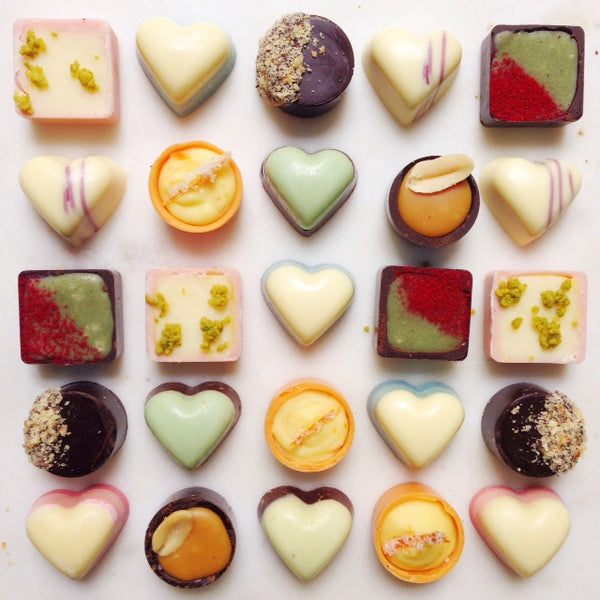 Pretty Pralines and Chocolate Love Hearts